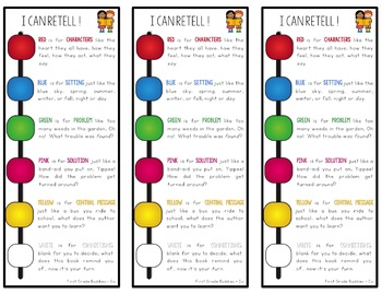 Story Retell Bracelet, Booklet, and Bookmark {Reading Comprehension Tool}