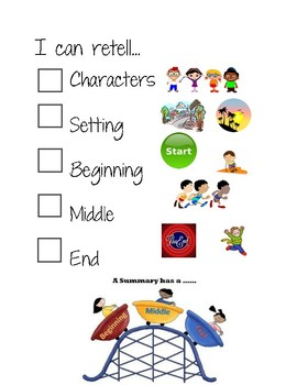 Story Retell Checklist with Visuals