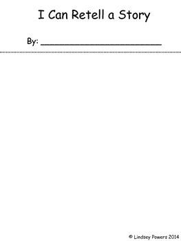 Story Retell Flipbook - Story Elements