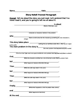Fiction Story/Literature Retell/Summary Frame