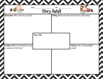 Story Retell Graphic Organizer FREE 944436 on Map For First Grade Reading Worksheets