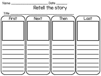 Story Retell Graphic Organizer/Recuenta el cuento organizador