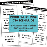 Speech Therapy Problem Solving Scenarios & Graphic Organizer {FREE!}