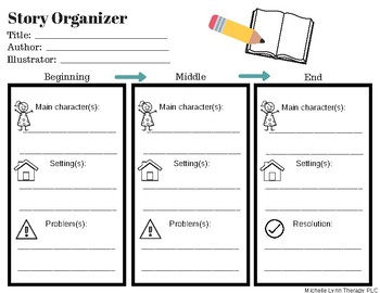 Story Retell Organizer with Visuals