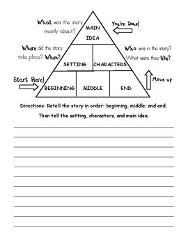Story Retell Pyramid with Writing
