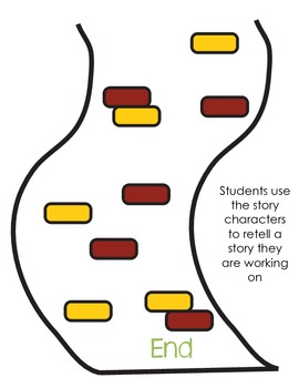 Story Retell Road: Beginning, Middle, and End Activity