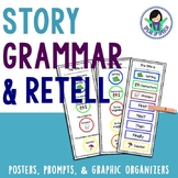Story Retell - Scaffolded Prompts, Visuals, & Graphic Organizers
