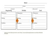 Story Retell Visual Organizer- Upper Level