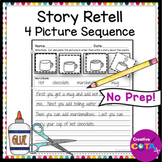 Story Retell Writing Worksheets 4 Picture Sequencing Cut and Paste