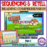 BOOM CARDS Digital Reading Comprehension Sequencing Story