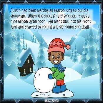 Story Retell and Sequencing BOOM CARDS Winter Edition - Teletherapy