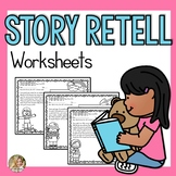 Story Retell and Sequencing | Speech and Language Worksheets | Retelling a Story