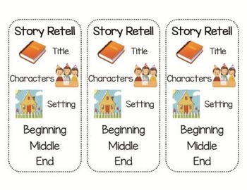 Story Retelling Bookmarks (Primary & Intermediate)