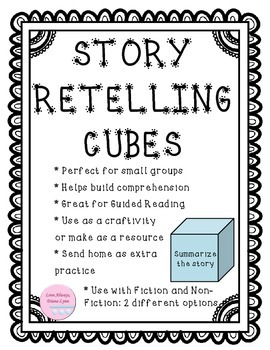 Story Retelling Comprehension Cubes