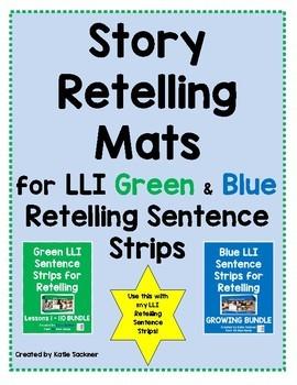 Story Retelling Mats for LLI Sentence Strips for Retelling