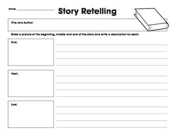 Story Retelling Organizer