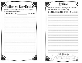 Story Retelling Report Booklet