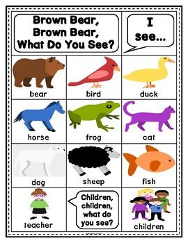 Story Retelling Sheets: Brown Bear, Brown Bear? (English)