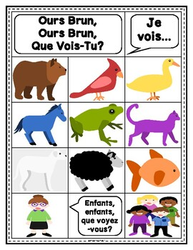 Story Retelling Sheets: Brown Bear, Brown Bear? (French)