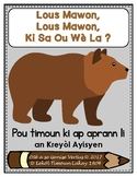 Brown Bear Story Retelling Sheets in Haitian Creole
