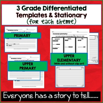 Story Retelling Template, Fictional Summary Template