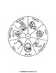 Story Retelling Wheel for Good Night, Gorilla - Buenas Noches, Gorila
