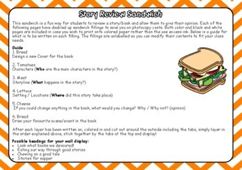 Story Review Sandwich