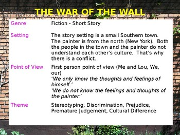 Story Review & Analysis - The War of The Walls by Toni Cade Bambara