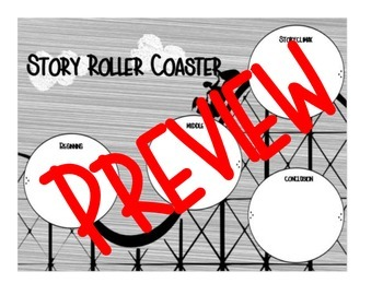 Story Roller Coaster Plot Graphic Organizer