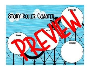 Story Roller Coaster Plot Graphic Organizer