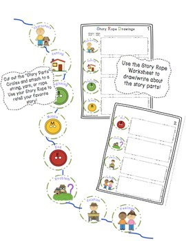 Story Ropes: Retelling and Comprehension Rope and Worksheet