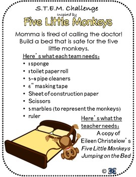 Story STEM!  Fun and Engaging STEM tasks to supplement 8 favorite picture books!