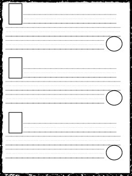 Story Sentence Paper with Training Wheels