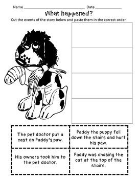 Story Sequence - Craftivities, Flap Books, Cut and Paste and More!