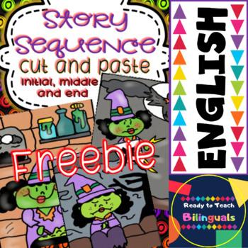 Story Sequence - Cut and Paste - Halloween FREEBIE (2 Litt