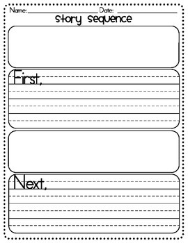 Story Sequence Graphic Organizer - First, Next, Then, and Last