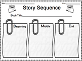 Story Sequence Graphic Organizer for Grades 1 and 2