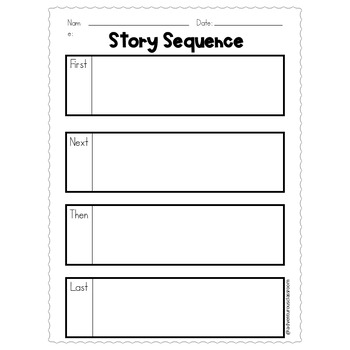 Story Sequence Graphic Organizers
