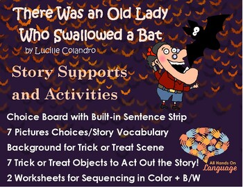 Old Lady Who Swallowed a Bat, Story Sequence Pictures Autism Support