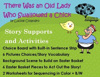Old Lady Who Swallowed a Chick, Story Sequence Pictures Autism Support