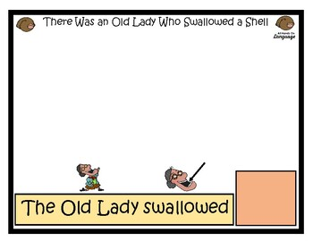 Story Sequence Pictures-Old Lady Who Swallowed a Shell