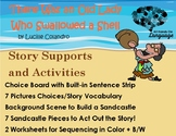 Old Lady Who Swallowed a Shell, Story Sequence Pictures Autism Support