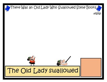 Old Lady Who Swallowed some Books, Story Sequence Pictures