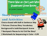 Old Lady Who Swallowed some Books, Story Sequence Pictures Autism Support