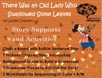 Story Sequence Pictures-Old Lady Who Swallowed some Leaves