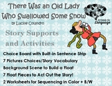 Old Lady Who Swallowed some Snow, Story Sequence Pictures Autism Support