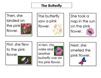 Story Sequence Skill Based Literacy Center Reading Activity