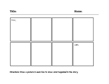 Story Sequence Template