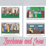 Story Sequence of Zacchaeus Bible Story Sunday School Preschool Montessori