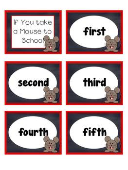 Story Sequencing Activity- If You Take a Mouse to School